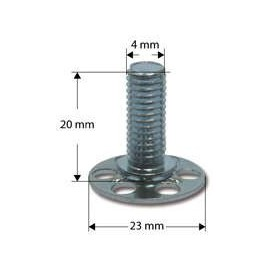 B 23 mm/M 4 x 20 mm bout