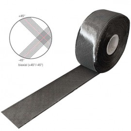 Carbon Tape 300 g/m² , Biax, 100 mm breed