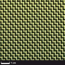 Carbon / Aramide 205 g/m² keper, 100 cm breed
