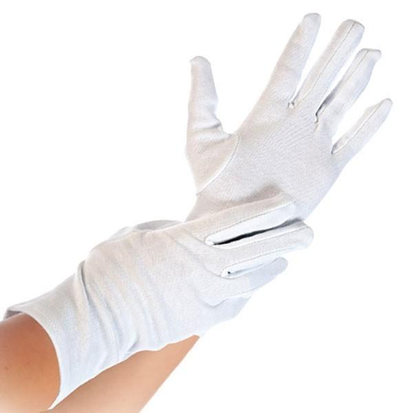 Katoenen witte handschoenen