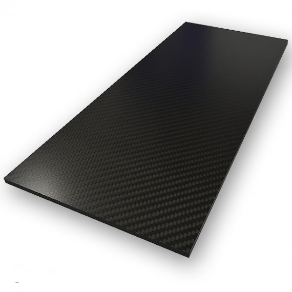 Carbonvezel plaat ECOTECH™, 350 x 150 mm