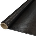 Carbon Weefsel, 245 gram, keper geweven