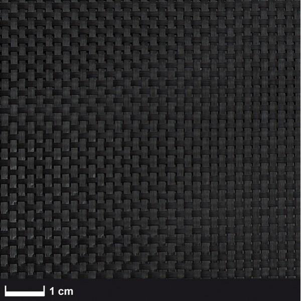 Carbon Weefsel 160 g/m² (aero), 100 cm breed,  vierkant geweven