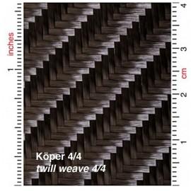 Carbon Weefsel 285 g/m² keper geweven, breedte 100 cm