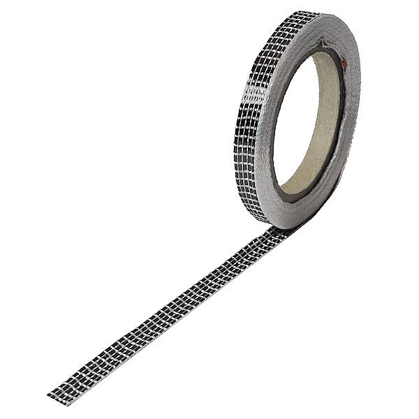 Carbonvezel tape 125 g/m² uni plain geweven, breedte 10mm