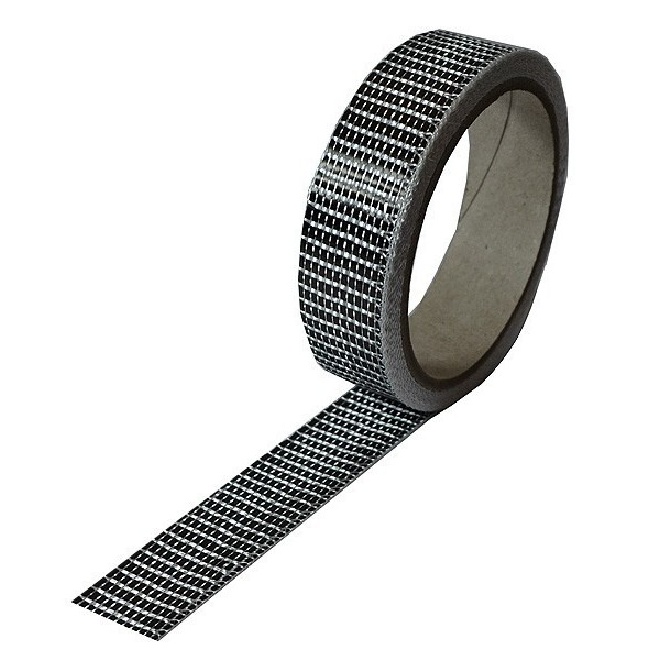 Carbonvezel tape 125 g/m² uni plain geweven, breedte 25 mm