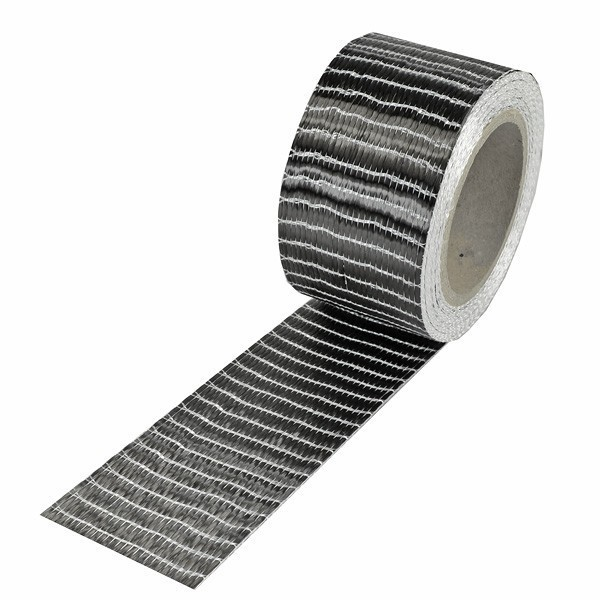 Carbonvezel tape 250 g/m² uni 50 mm plain geweven
