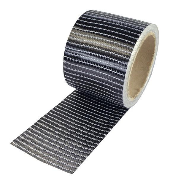 Carbonvezel tape 250 g/m² uni 75 mm plain geweven