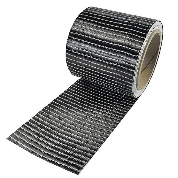 Carbonvezel tape 250 g/m² uni 100 mm plain geweven