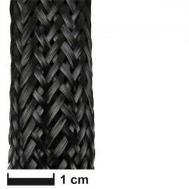 Carbonvezel slang gevlochten18 mm