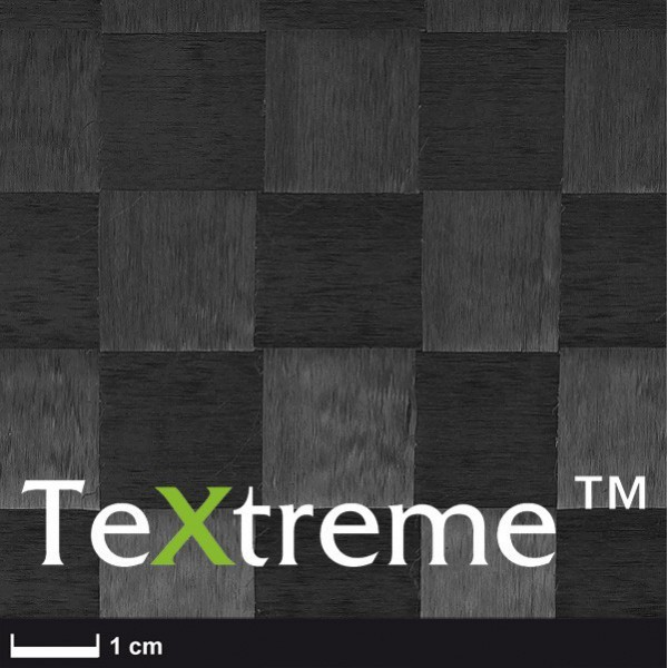 TeXtreme ® carbon weefsel 160 g/m² ST vierkant geweven, breedte 100 cm