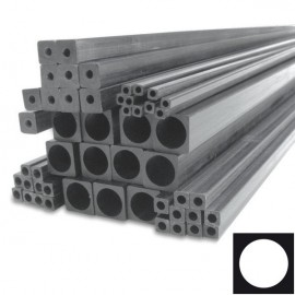 Carbon Buis, vierkant met ronde binnenkant (vinylester-carbon)
