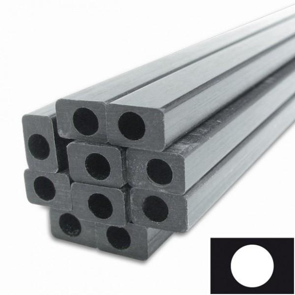 VEC carbon buis rechthoekig, ronde binnenkant (vinylester-carbon)