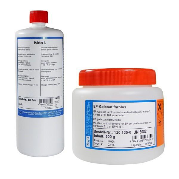 Epoxy Gelcoat Kleurloos + Verharder L (set van 2 componenten)