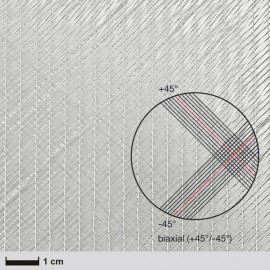 Glasweefsek NCF,  311 g/m² (biaxiaal, silaan) 127 cm