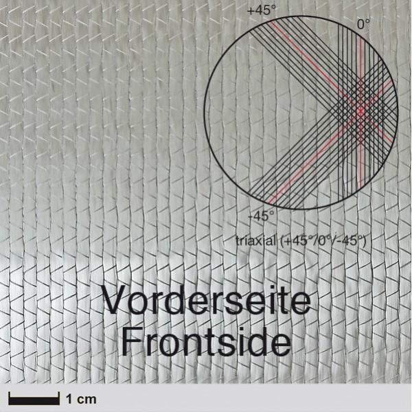 Glasweefsek NCF,  830 g/m² (triaxiaal, silaan) 127 cm