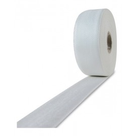 Glasvezel weefsel tape 120 g/m² 25 mm plain geweven, silaan