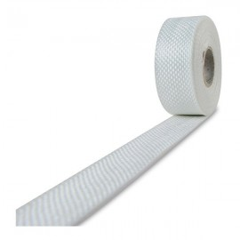 Glasvezel weefsel tape 225 g/m² 20 mm plain geweven, silaan