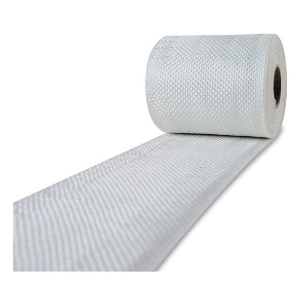 Glasvezel weefsel tape 225 g/m² 60 mm plain geweven, silaan