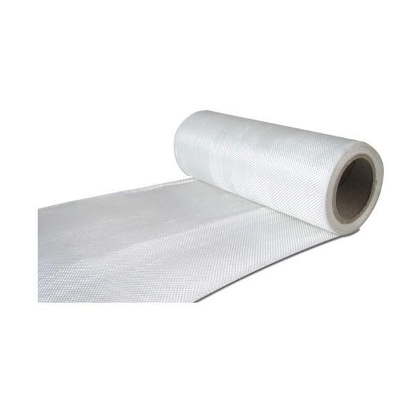 Glasvezel weefsel tape 225 g/m² uni 200 mm plain geweven, silaan