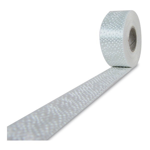 Glasvezel weefsel tape 220 g/m² UD 20 mm plain geweven, silaan