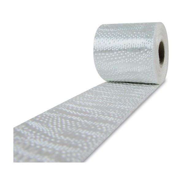 Glasvezel weefsel tape 220 g/m² uni 50 mm plain geweven, silaan