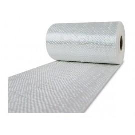 Glasvezel weefsel tape 220 g/m² UD 100 mm plain geweven, silaan