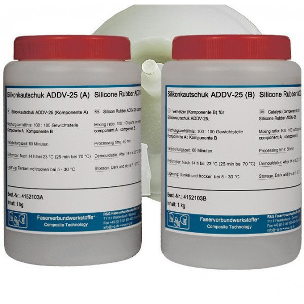 Silicone rubber ADDV-25 (set van 2 componenten)